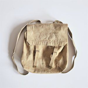 Vintage Canadian Army Canvas Military Bag.